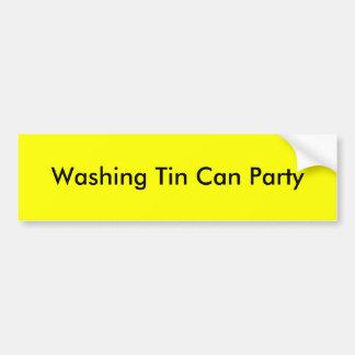 Partie de lavage de boîte en fer blanc autocollant de voiture