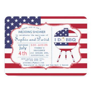 Partie unique de drapeau des Etats-Unis 4 juillet Carton D'invitation 11,43 Cm X 15,87 Cm