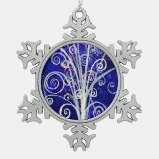 Partikel-Blumenstrauß-Zinn-Feiertags-Verzierung Schneeflocken Zinn-Ornament