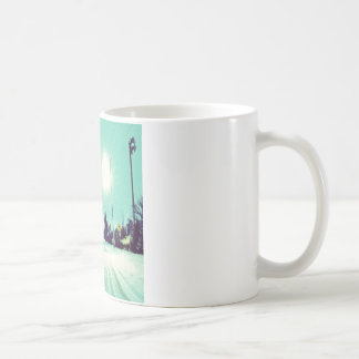 Partikel, die Licht machen Kaffeetasse