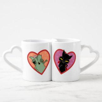 Partner der Tassen der Katze zombi und Drácula