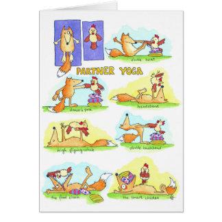 Partner-Yogagrußkarte durch Nicole Janes Karte