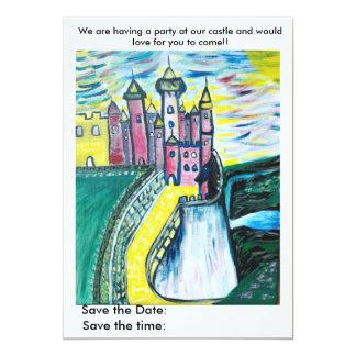 Party an unserem Schloss 12,7 X 17,8 Cm Einladungskarte