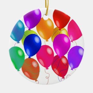 Party-Ballone in einem Regenbogen von Farben Keramik Ornament