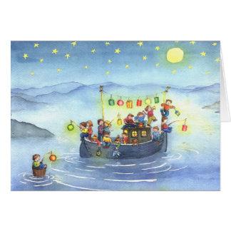 Party-Boot mit Kindergeburtstags-Karte Karte