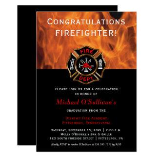 Party der Feuerwehrmann-Abschluss-Mitteilungs-| Karte
