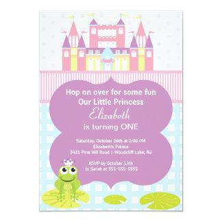 Party Einladung Frosch-Prinzessin-Birthday