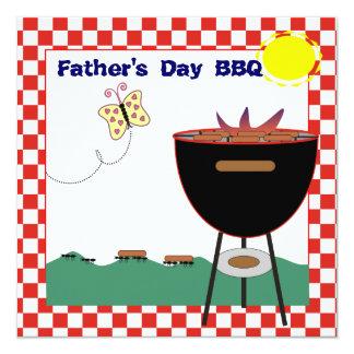 Party Einladung GRILLEN der Vatertag Quadratische 13,3 Cm Einladungskarte