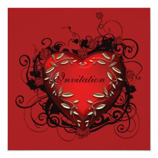 Party Einladung Herzvalentines Tages