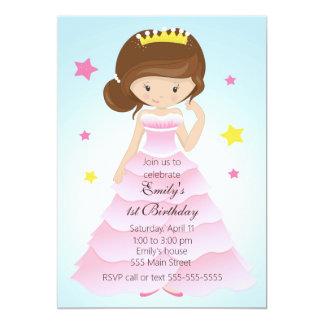 Party Einladung Prinzessin-Dress Girl Birthday