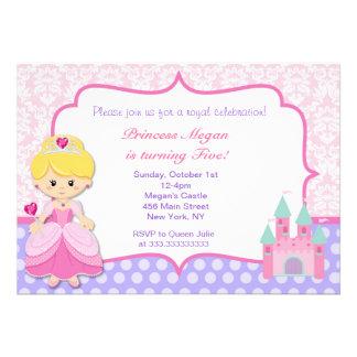 Party Einladungen Prinzessin-Birthday