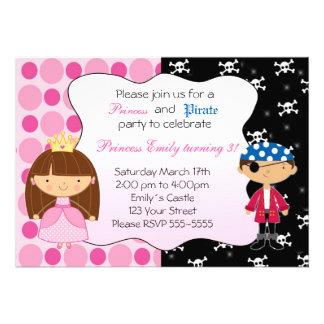 Party Einladungen Prinzessin-Pirate Birthday
