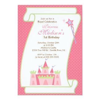 Party Einladungs-elegantes Rosa 12,7 X 17,8 Cm Einladungskarte