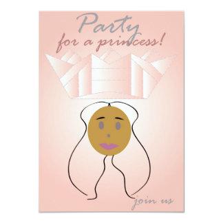 Party für eine Prinzessin 11,4 X 15,9 Cm Einladungskarte