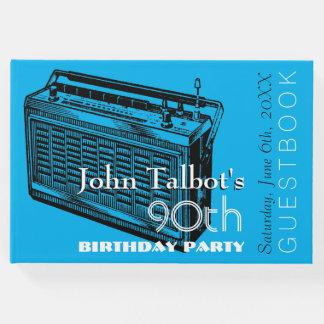 Party-Gast-Buch Geburtstag des Vintagen Radios 90. Gästebuch