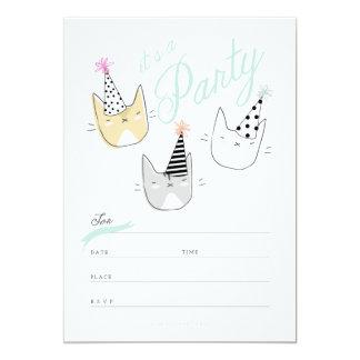 Party-Hut-Katzen laden ein 12,7 X 17,8 Cm Einladungskarte