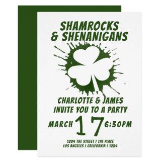 Party-irische KleeblätterShenanigans St. Patricks Karte