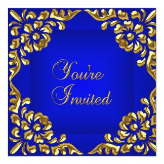 Party laden Goldkönigliches Blau-jede Anlässe ein Karte