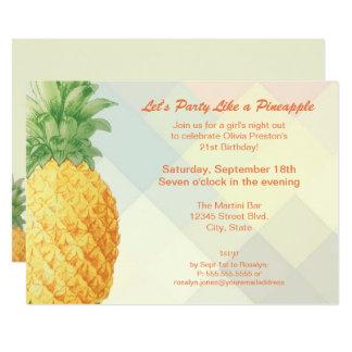 Party mögen eine Einladungs-Karte der Ananas-| Karte