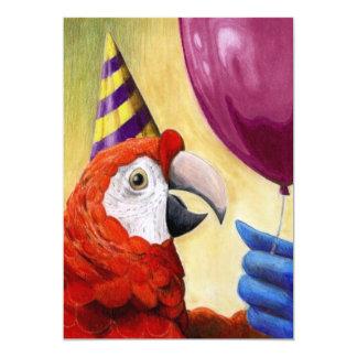 Party-Papageien-Einladung Karte