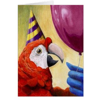 Party-Papageien-Geburtstags-Karte Karte