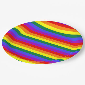 Party-Papierstolzflaggenregenbogen Pappteller