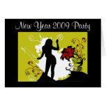 Party pendant la nouvelle année 2009 cartes