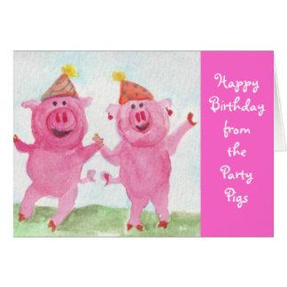 Party-Schweinwunsch Sie alles Gute zum Geburtstag Grußkarte