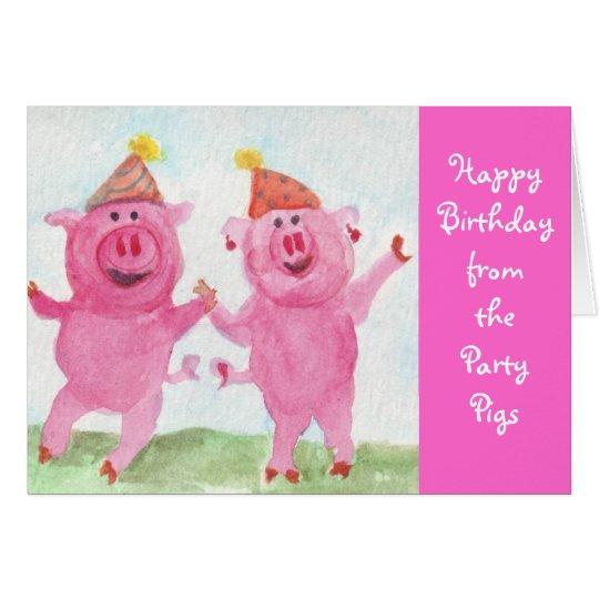 Party-Schweinwunsch Sie alles Gute zum Geburtstag Karte