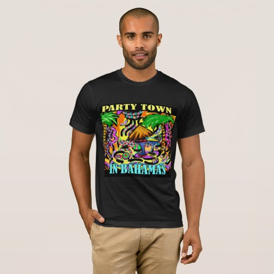 PARTY-STADT IN BAHAMAS T-Shirt