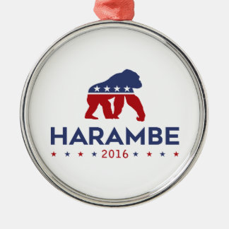 Party-Tier Harambe Silbernes Ornament