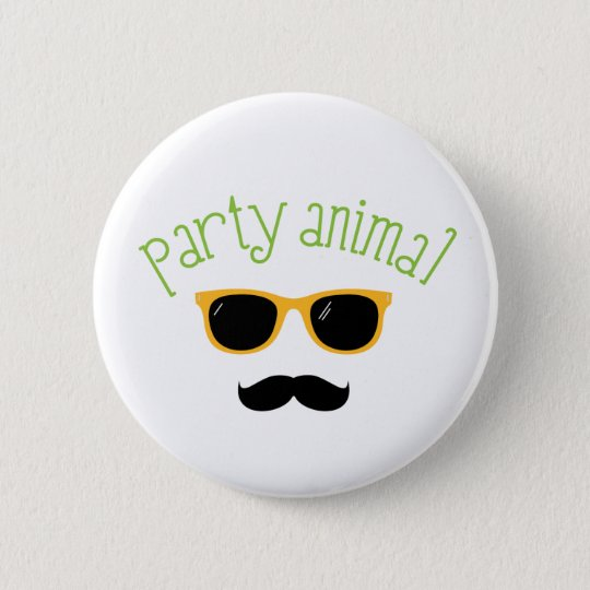 Party-Tier Runder Button 5,1 Cm
