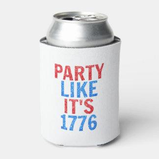 Party wie es ist Glitter-Text 1776 //am 4. Juli Dosenkühler