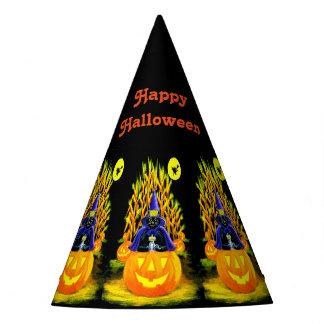 Partyhut schwarzer Katze Halloweens