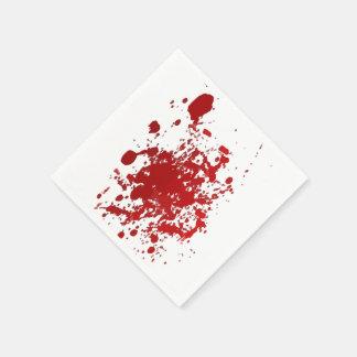 Partypapierservietten Halloween-Blut-Spritzer Papierserviette