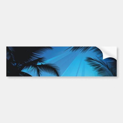 Partystrand-Musiktanz c des Strandes Autoaufkleber