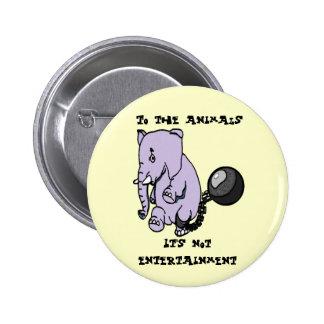 Pas bouton de divertissement badge rond 5 cm