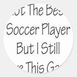 Pas le meilleur footballeur mais moi aiment autocollants ronds