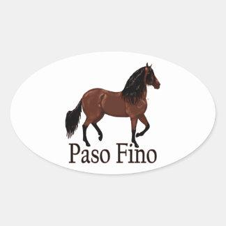 """Paso Fino Bucht """"Paso Fino """" Ovaler Aufkleber"""