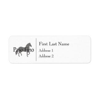 Paso Fino Silhouette-Text 1 Rücksende Aufkleber