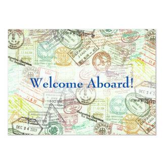 Pass-Briefmarke Reise-Einladung Karte-Danken Ihnen Karte