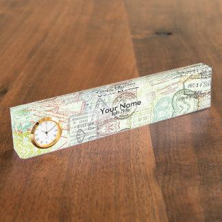 Pass-Briefmarken-Druck-Namensschild Namensplakette