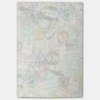 Pass-Briefmarken-Druck-Post-Itanmerkung Post-it Klebezettel