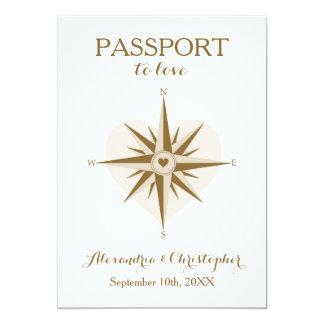 Pass-Hochzeit laden - Bestimmungsort-Reise-Thema 12,7 X 17,8 Cm Einladungskarte