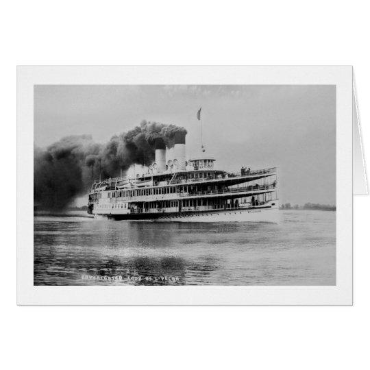 Passagier-Dampfer Tashmoo Great Lakes Louis Pesha Grußkarte