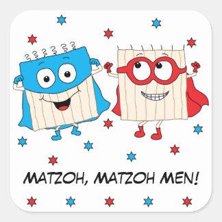 """Passahfest-Aufkleber-Quadrat""""Matzoh, Quadratischer Aufkleber"""
