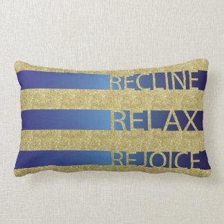 "Passahfest-Gold/blaues Kissen ""stützen, entspannen"