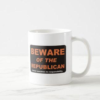 Passen Sie auf,/Republikaner Kaffeetasse