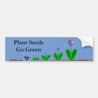 Passen Sie die Tulpen auf zu wachsen Autoaufkleber