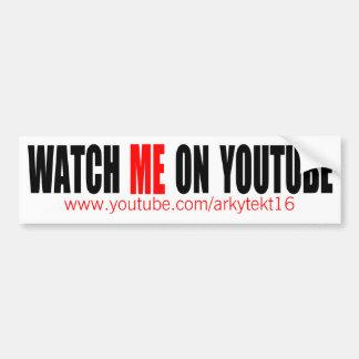 Passen Sie mich auf YouTube auf (modern) Autoaufkleber